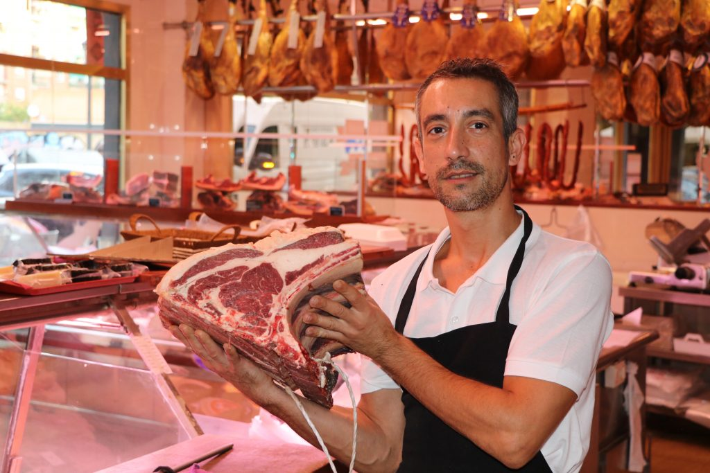 Chuletón de vaca raza rubia gallega